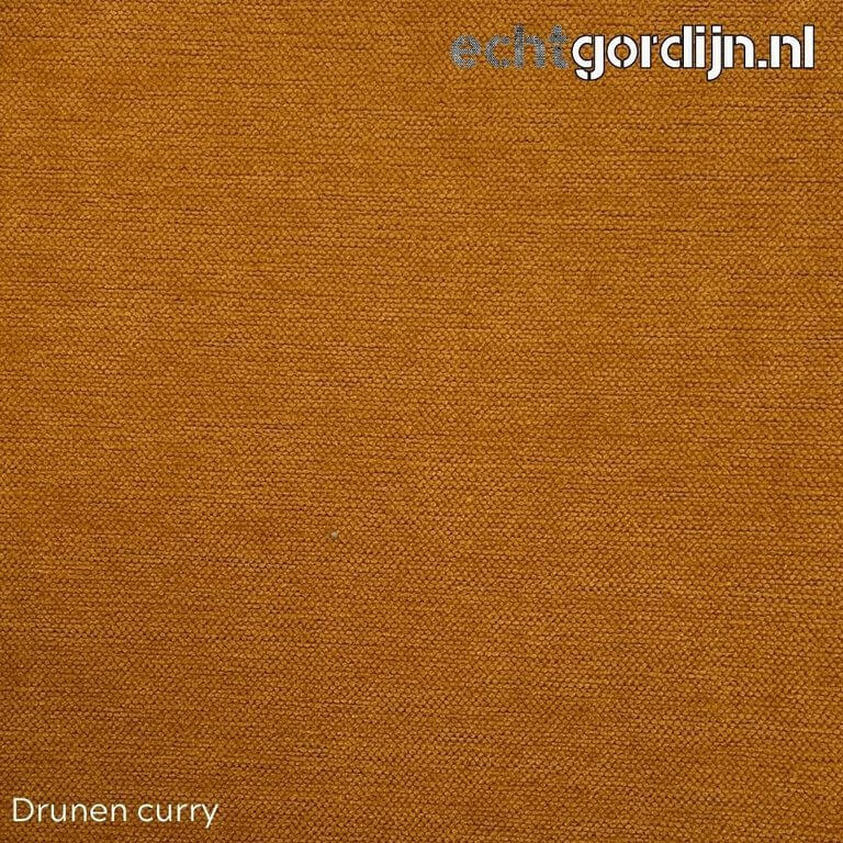 Drunen curry chenille velours